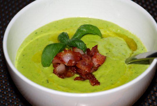 Image: Grønn ertesuppe med bacon