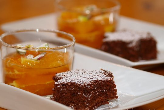 Image: Sjokoladestjerner med sitrussalat