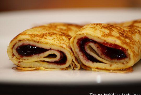 Image: Tomatsuppe og pannekaker