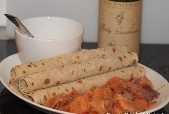 Image: Potetsalat, gravet laks og sennepssaus