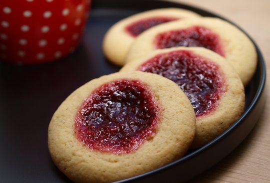 Image: Bringebærcookies