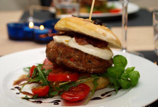 Image: Hamburger med italienske smaker