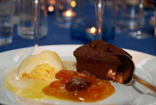 Image: Sjokoladefondant med appelsinis og karamelliserte kumqats