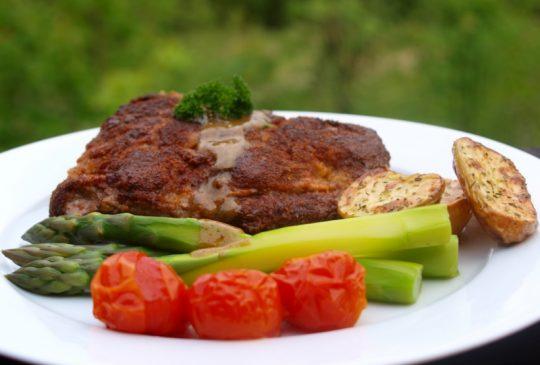 Image: Kalveschnitzel med sennepssaus