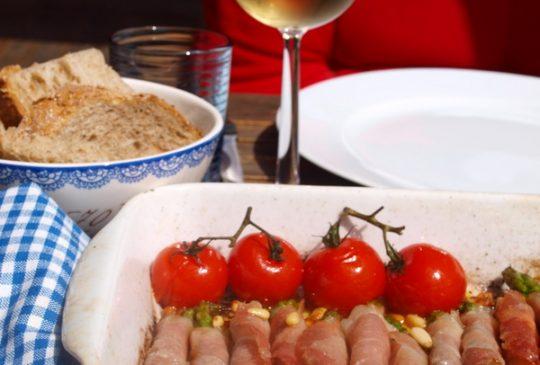 Image: Grillet asparges med spekeskinke og parmesan