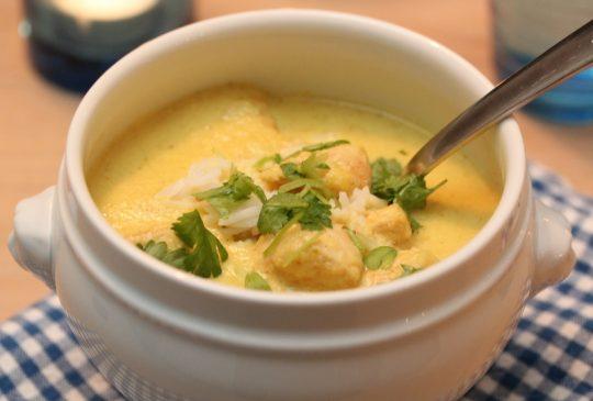 Image: Kyllingsuppe med blomkål og koriander