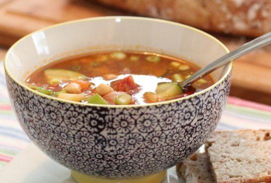 Image: Kjapp suppe med chorizo, squash og kikerter