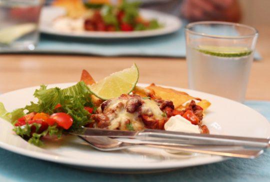 Image: Tacograteng med bønner og gulrot