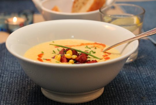 Image: Kremet maissuppe med chorizo