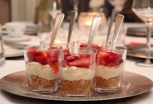 Image: Ostekake på glass