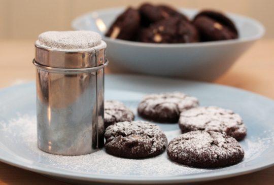 Image: Mørke sjokoladekjeks med hvit sjokolade
