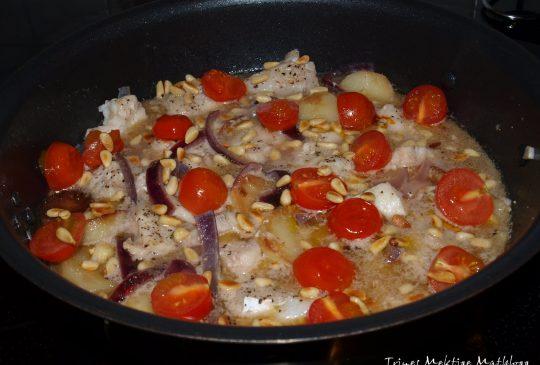 Image: Torskegryte med sitron og pinjekjerner