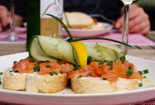 Image: Laksesandwich med minner fra Paris