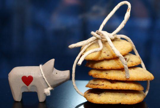 Image: Konfektcookies-kit på glass