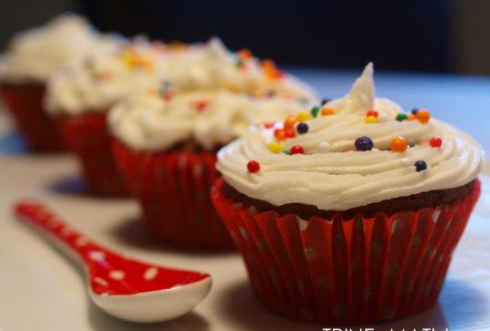 Image: Sjokolade cupcakes med sitronkrem