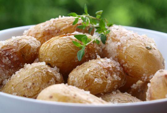 Image: Saltbakte poteter