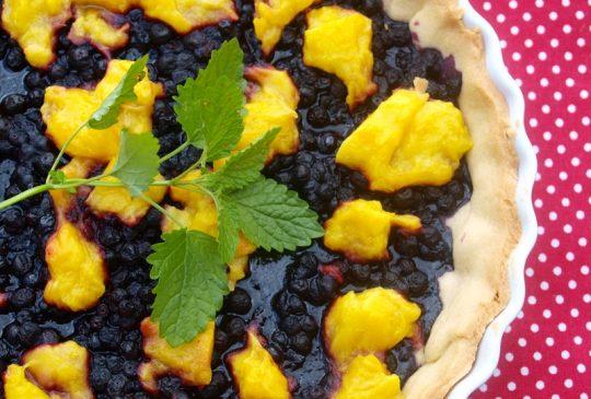 Image: Blåbær- og mangoterte