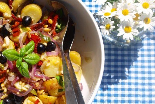 Image: Lun potetsalat med balsamicovinaigrette