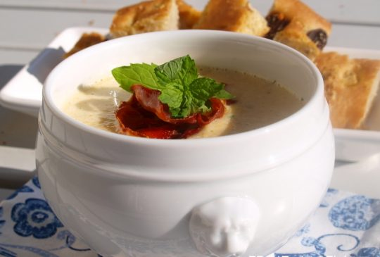 Image: Squashsuppe med sprøstekt spekeskinke