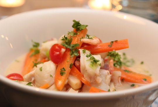 Image: Fiskesuppe med torsk og reker