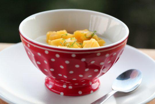 Image: Syrlig panna cotta med mangosalat