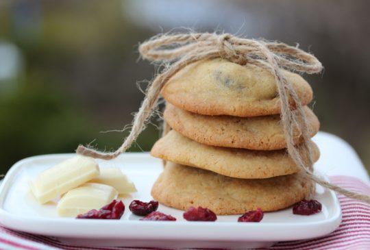 Image: Hummingbirds cookies med tranebær og hvit sjokolade