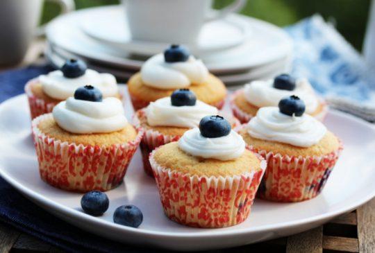 Image: Blåbærmuffins med topping