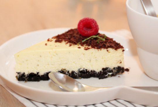 Image: Ostekake med sjokolade og lime