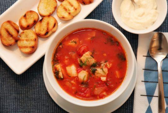 Image: Fiskesuppe med torsk, tomat og chili