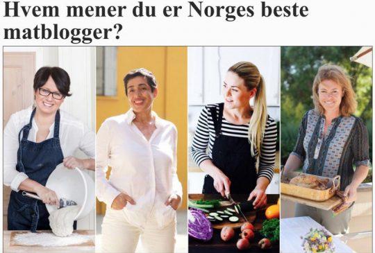 Image: VG – HVEM MENER DU ER NORGES BESTE MATBLOGGER?